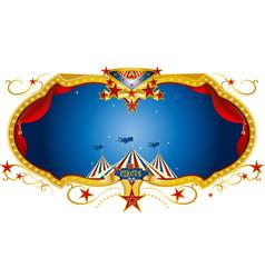 Circus night label vector