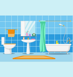 Clean beautiful bathroom interior vector