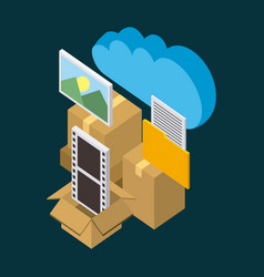 Cloud computing storage vector
