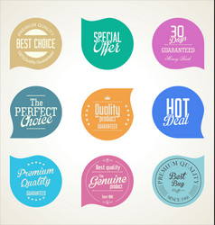collection modern colorful sticker and tags 082 vector image