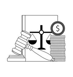 corrupt bribery in judge vector image