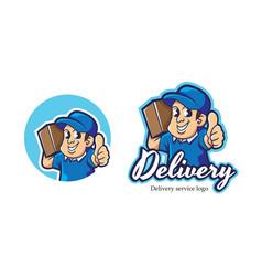 Courier mascot logo vector