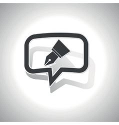Curved pen nib message icon vector