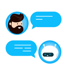 cute smiling chat bot is written off vector image