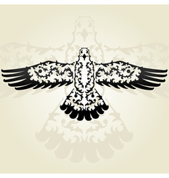 Decorative seagull vector