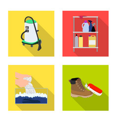 design of laundry and clean icon set of vector image