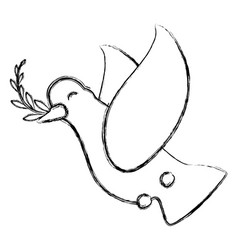Dove the bird of peace vector