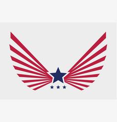 eagle american symbol usa freedom creative logo vector image