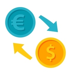 Exchange Currency Icon vector image