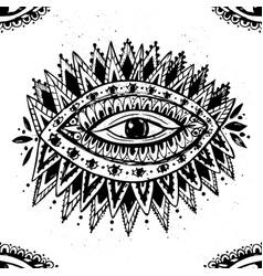 eye hand drawn mystical vector image
