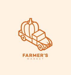 farmers market vector image