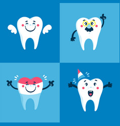 Flat for children dentistry and kids vector
