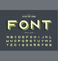 Font and alphabet line bold typeface letter and vector