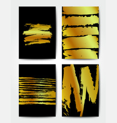 Gold background postcards vector