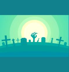 happy helloween - creepy backdrop for helloween vector image