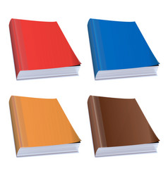 Hardback books vector