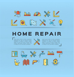 Home repair flyer construction poster house vector