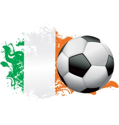 Ivory Coast Soccer Grunge vector image
