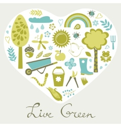 Live green vector