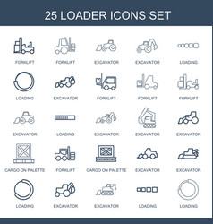 Loader icons vector