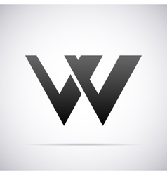 logo for letter W Design template vector image