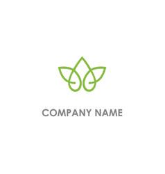 lotus flower leaf logo vector image