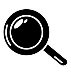 magnifier icon simple black style vector image