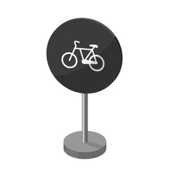 Mandatory road signs icon in monochrome style vector image