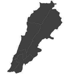 Map lebanon split into regions vector