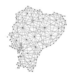 Map of ecuador republic from polygonal vector