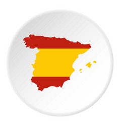 Map of spain icon circle vector