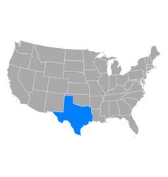 map texas in usa vector image