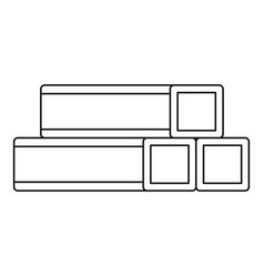 Metal bar icon outline style vector