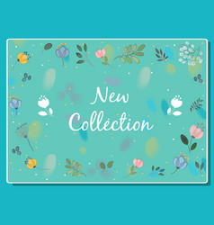 new collection floral card vector image