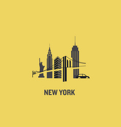 new york city art design concept vector image