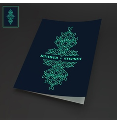 Notebook Cover Template Line Art Design vector