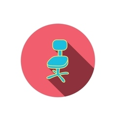 Office chair icon Business armchair sign vector image