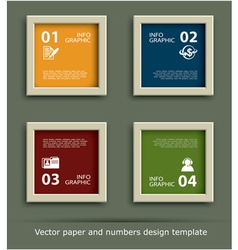 Paper and numbers icon design template vector