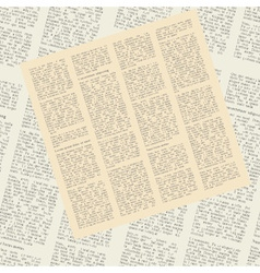 pattern of newspapers vector image