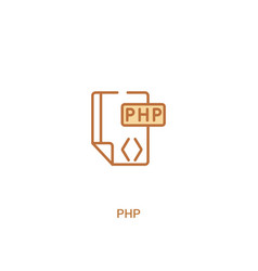 Php concept 2 colored icon simple line element vector