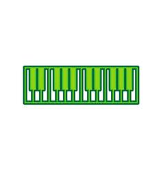Piano keyboard sign lemon scribble icon vector