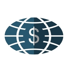 planet with money symbol vector image
