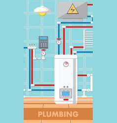 Plumbing concept flat vector