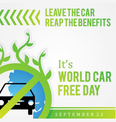 Quote car free day design for element design in vector