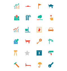 Real Estate Colored Icons 4 vector