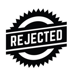 Rejected stamp on white vector