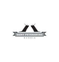 Saint Petersburg Russia city symbol vector