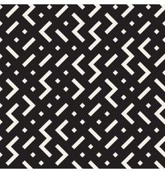 Seamless black and white irregular zigzag vector