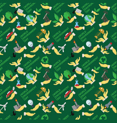 Seamless pattern flat 1 of elements for design vector