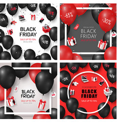 set black friday sale cards vector image